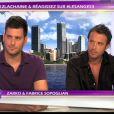 Zarko et Fabrice des Anges sur le plateau des Anges de la télé-réalité - Le Mag le lundi 17 octobre 2011 sur NRJ 12