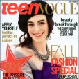 Anne Hathaway, en couverture de la September Issue de Teen Vogue. Septembre 2007.