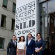 Le prince Frederik et la princesse Mary de Danemark, présents ici pour honorer l'ouverture du restaurant Aamanns/Copenhagen à TriBeCa, achevaient lundi 24 octobre 2011 leur visite officielle à New York, à la veille du vol retour vers Copenhague.