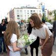 Le prince Frederik et la princesse Mary de Danemark, ici à l'inauguration du restaurant Aamanns/Copenhagen à TriBeCa, achevaient lundi 24 octobre 2011 leur visite officielle à New York, à la veille du vol retour vers Copenhague.