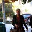 Blake Lively sur le tournage de Gossip Girl dans l'Upper East Side à New York le 25 octobre 2011