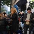 Blake Lively et Matthew Settle sur le tournage de Gossip Girl dans l'Upper East Side à New York le 25 octobre 2011