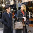 Blake Lively et Penn Badgley sur le tournage de Gossip Girl dans l'Upper East Side à New York le 25 octobre 2011