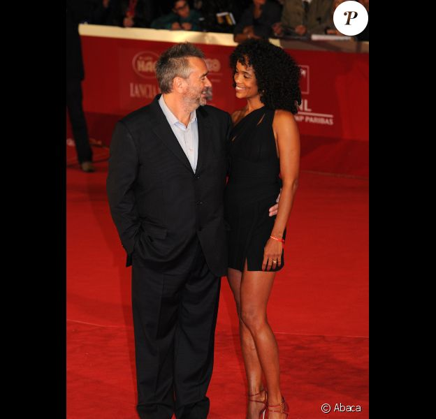 Luc Besson et Virginie Silla au festival de Rome le 27 octobre 2011 pour la présentation de The Lady