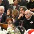 Paolo Simoncelli lors de l'enterrement de son fils Marco le 27 octobre 2011 à Coriano