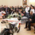 Le dernier hommage rendu par ses proches à Marco Simoncelli lors de l'enterrement le 27 octobre 2011 à Coriano