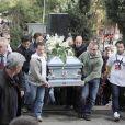 La foule s'était déplacée en masse lors de l'enterrement du jeune pilote Marco Simoncelli le 27 octobre 2011 à Coriano