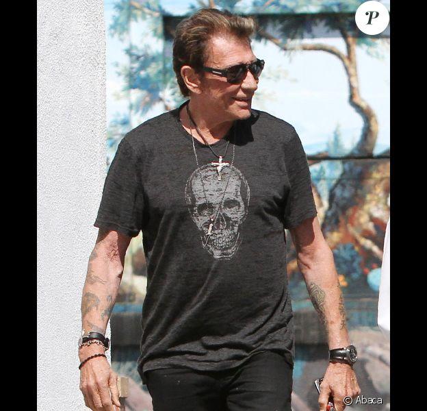 Johnny Hallyday le 18 juin 2011 à Los Angeles.