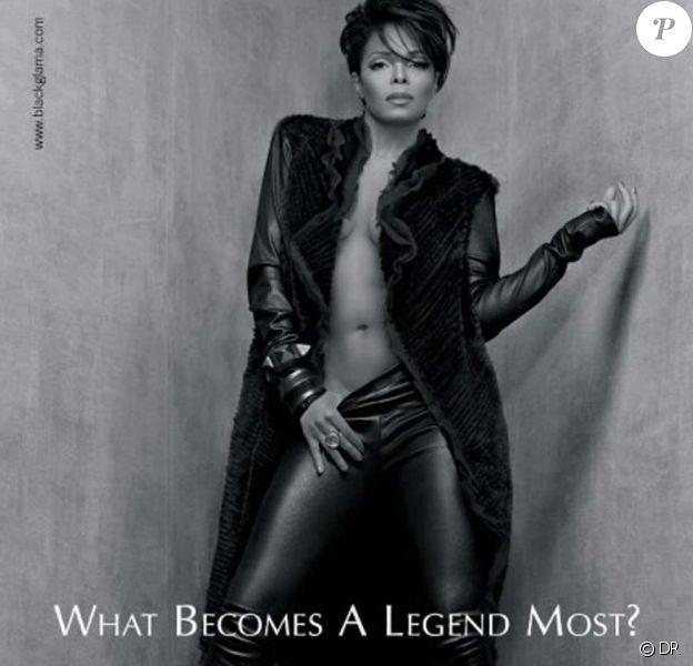 """Janet Jackson pour la campagne """"What becomes a legend most ?"""" de Blackglama, 2011."""