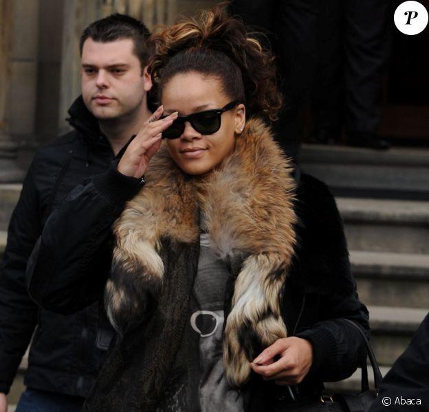 Rihanna à Paris le 20 octobre 2011