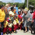 Les royaux néerlandais en visite sur l'île de Curaçao, dans les Antilles, le 2 novembre 2011.