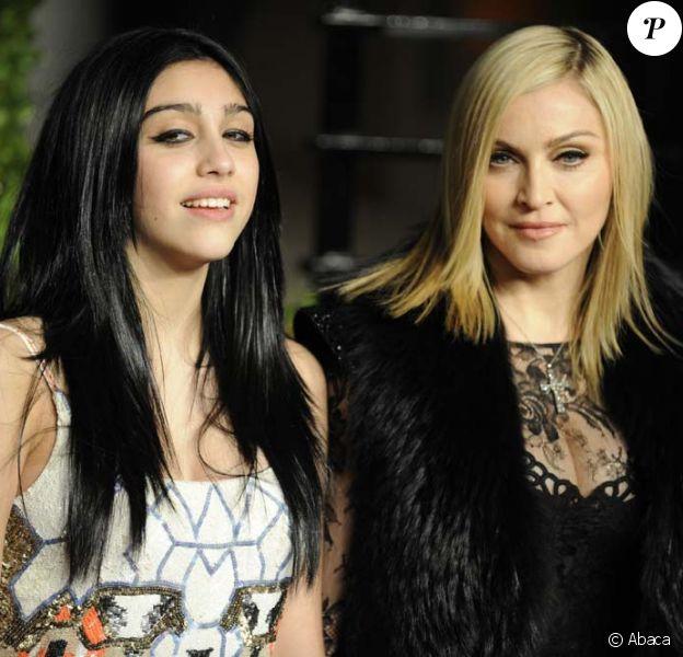 Madonna et sa fille Lourdes, à Los Angeles, le 28 février 2011.