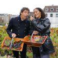 Jocelyne Béroard et Laurent Voulzy pour la fête des vendanges de Montmartre, le 8 octobre 2011.