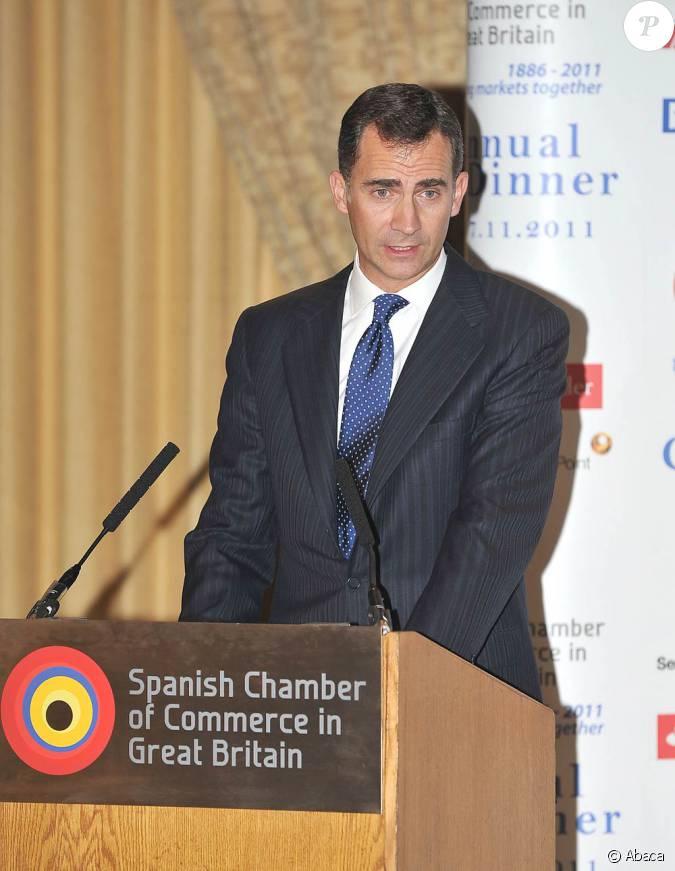 Felipe d 39 espagne assiste l 39 anniversaire de la chambre de for Chambre de commerce a londres