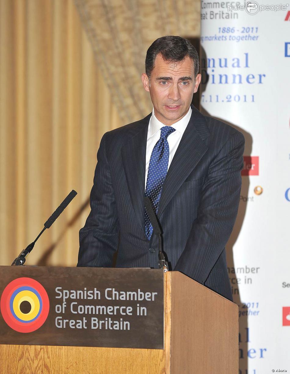 Felipe d 39 espagne assiste l 39 anniversaire de la chambre de commerce espagnole en grande bretagne - Chambre de commerce francaise de grande bretagne ...