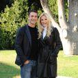 Michelle Hunziker et le réalisateur Raoul Bova présentaient à la Villa Borghese, à Rome, le film  Amore Nero , le 11 novembre 2011.