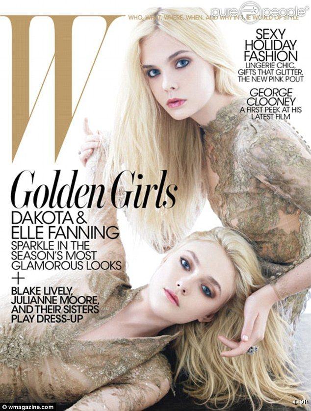 Dakota et Elle Fanning sur la couverture de W