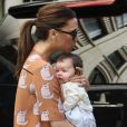 Harper Seven et sa maman Victoria Beckham, en virée shopping à New York, le 16 septembre 2011.