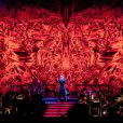 George Michael présentait son spectale Symphonica à Milan, le 11 novembre 2011.