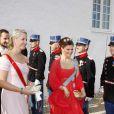 Marie-Mette de Norvège et Victoria de Suède au mariage de Marie Cavallier et Joachim de Danemark
