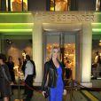 Sarah Marshall lors de la soirée d'inauguration de Marks & Spencer au Fouquet's à Paris