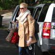 Katherine Heigl rentre chez elle à Los Angeles, le 1er décembre 2011.