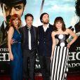 Kelly Reilly, Robert Downey Jr., Noomi Rapace et Jude Law présentent Sherlock Holmes : Jeu d'ombres à Londres, le 9 décembre 2011.