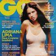 Superbe dans un simple body, Adriana Lima brille avec la Une du GQ portugais. Juin 2003.