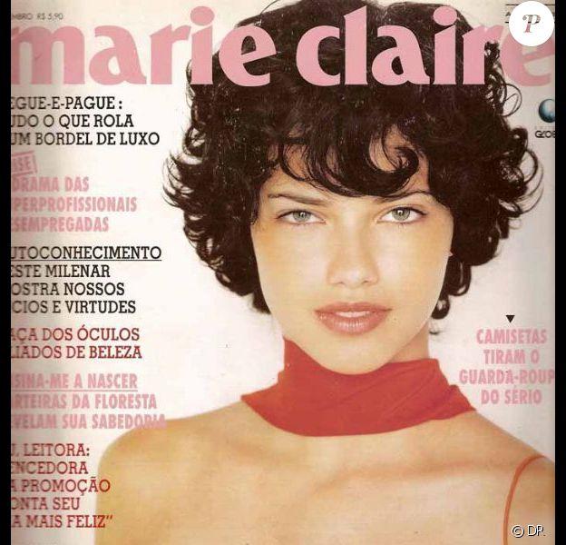 Septembre 1998 : c'est une Adriana Lima presque méconnaissable qui faisait la Une du magazine Marie Claire.