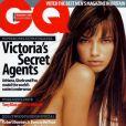 Adriana Lima, superstar de la marque de lingerie Victoria's Secret, en Une du GQ britannique. Novembre 2002.