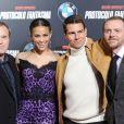 Brad Bird, Paula Patton, Tom Cruise et Simon Pegg à l'avant-première de Mission : Impossible - Protocole Fantôme à Madrid, le 12 décembre 2011.