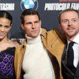 Paula Patton, Tom Cruise et Simon Pegg à l'avant-première de Mission : Impossible - Protocole Fantôme à Madrid, le 12 décembre 2011.