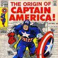 La couverture d'un des numéros de Captain America.
