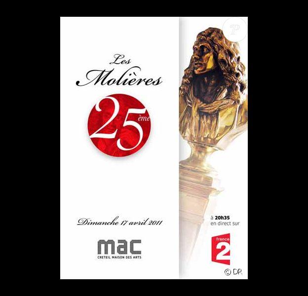 La 25e cérémonie des Molières diffusées le 17 avril sur France 2 n'a réuni que 1,32 million de téléspectateurs pour 5,2% de part de marché.