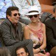 """""""Patrick Bruel et une amie à Roland Garros 2008"""""""