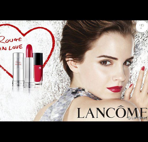 Emma Watson dans la campagne Rouge in Love de Lancôme