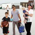 Boris Becker et ses fils Noah, Elias et Amadeus à Miami le 31 décembre 2011