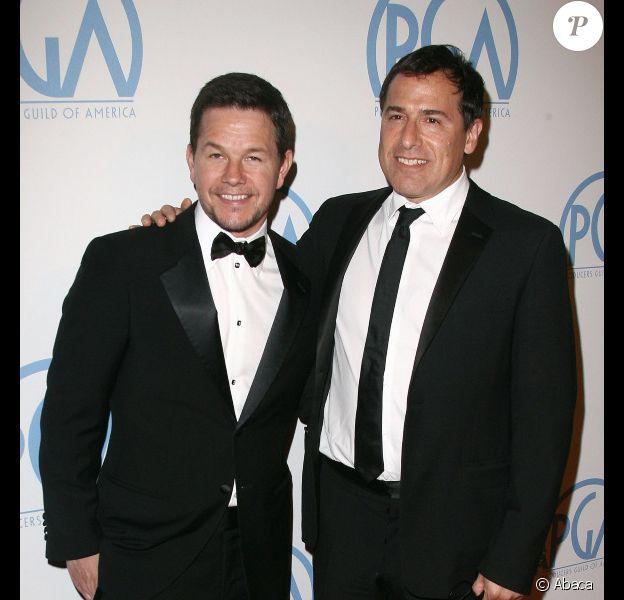 Mark Wahlberg et David O. Russell, en janvier 2011 à Los Angeles.