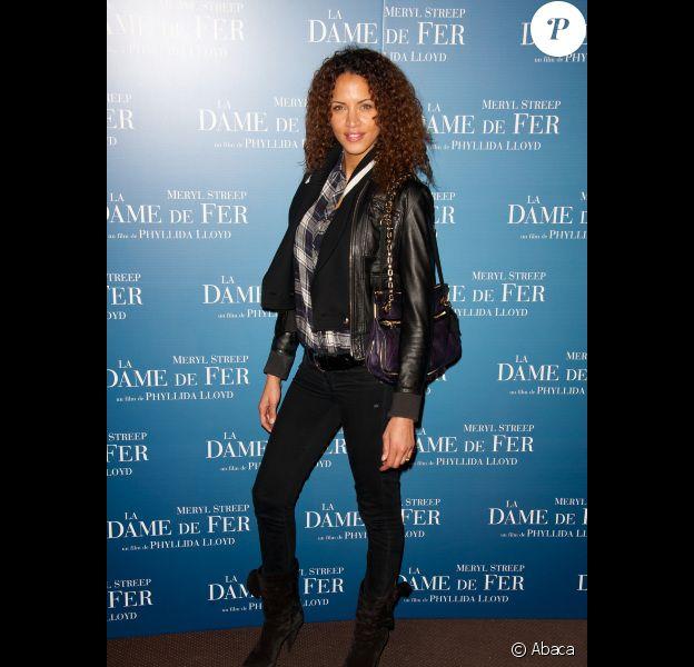 lors de l'avant-première du film La Dame de fer à Paris le 6 janvier 2012