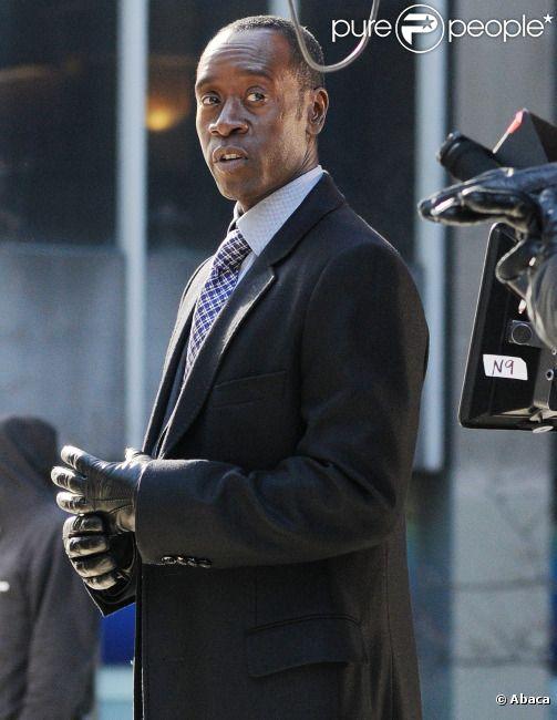 Don Cheadle, le 6 février 2012, sur le tournage de la série  House of Lies .