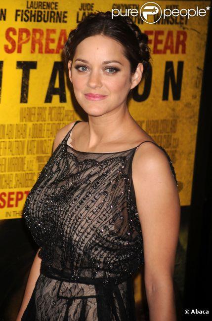Marion Cotillard lors de l'avant-première du film Contagion à New York en septembre 2011
