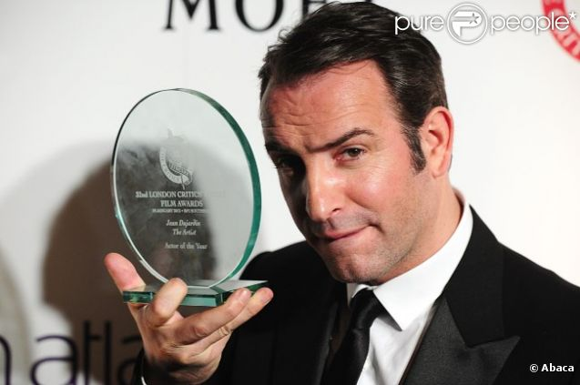 Jean Dujardin lors des London Film Critics' Circle Awards le 19 janvier 2012