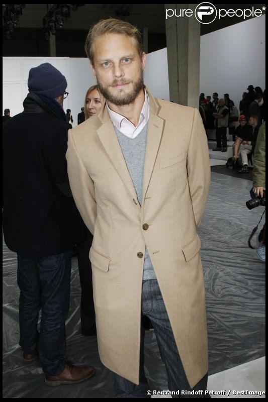 Arnaud Lemaire au défilé Dior Homme automne-hiver 2012/2013 à Paris, le 21 janvier 2012.