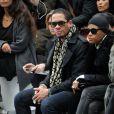 Le rappeur/acteur JoeyStarr était au premier rang du défilé Dior Homme à Paris, le 21 janvier 2012.