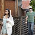 Eva Longoria au naturel dans les rues de Los Angeles en compagnie de son homme Eduardo Cruz. Janvier 2012