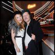 Julie Depardieu et Philippe Katerine, duo irrésistible au défilé Etam lingerie le 23 janvier 2012 à l'école nationale des Beaux-Arts.
