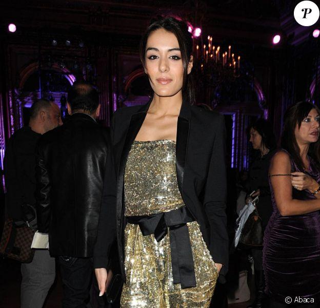 Sofia Essaïdi lors du défilé Zuhair Murad Haute Couture à Paris le 24 janvier 2012