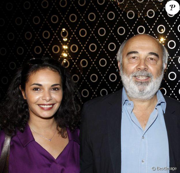 Saïda Jawad et Gérard Jugnot en octobre 2011 à Paris