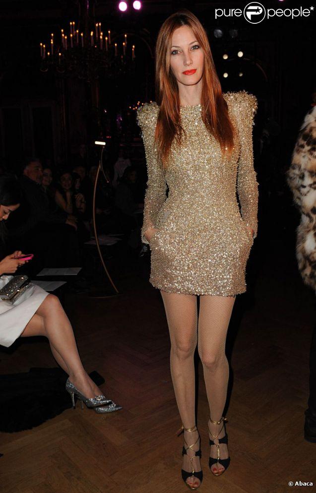 La superbe Mareva Galanter brille de mille feux lors du défilé haute couture de Zuhair Murad à l'hôtel Westin. Paris, le 24 janvier 2012.