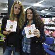 Jade Foret, fiancée d'Arnaud Lagardère, au Carrefour Planet Bierges, le 11 janvier 2012 à Bruxelles. Elle y présentait son livre de premiers secours à prodiguer aux enfants